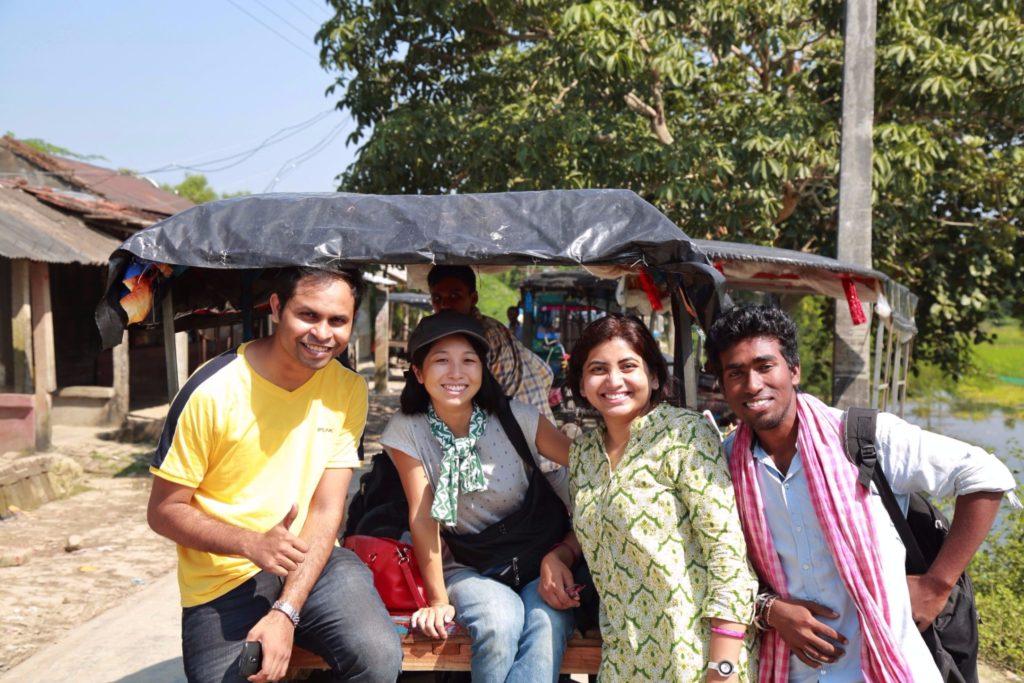 インド・コルカタ近くにある世界最大のマングローブツアーにて