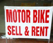 世界遺産タムコックに向かうためバイクをレンタル!