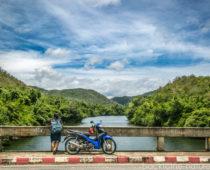 カンチャナブリ郊外のダムまでぶらりバイク旅!