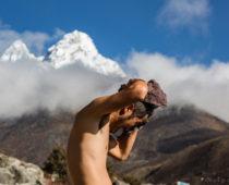 エベレストトレッキング12日目(Tengboche→Shomare)谷沿いトレックと18歳の少女